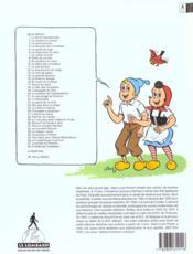 Sylvain et Sylvette t.11 ; la clé perdue - 4ème de couverture - Format classique