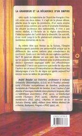 Le Genie De L'Autriche-Hongrie - 4ème de couverture - Format classique