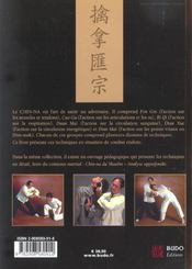 Chin-na du shaolin : application au combat - 4ème de couverture - Format classique