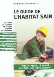 Le Guide De L'Habitat Sain - Intérieur - Format classique