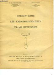 Comment Eviter Les Empoisonnements Par Les Champignons - Couverture - Format classique