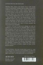 Champs d'ombres - 4ème de couverture - Format classique