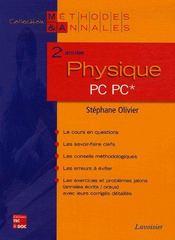 Physique ; 2eme Annee Pc - Intérieur - Format classique