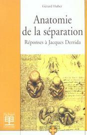 Anatomie De La Separation - Intérieur - Format classique