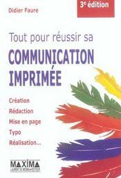 Tout Reussir Comm Imprimee 3ed - Intérieur - Format classique