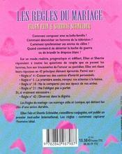 Les Regles Du Mariage ; Tous Les Secrets D'Une Union Durable - 4ème de couverture - Format classique