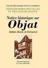 Notice historique sur objat - Couverture - Format classique