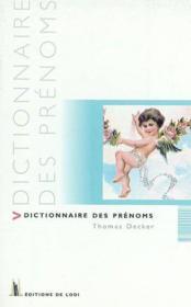 Dictionnaire Des Prenoms - Couverture - Format classique