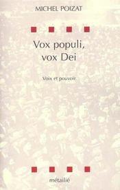 Vox Populi, Vox Dei - Intérieur - Format classique