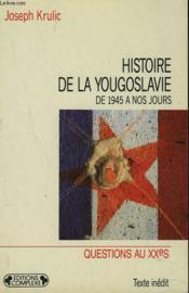 Histoire de la yougoslavie - Couverture - Format classique