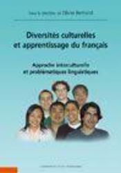 Diversités culturelles et apprentissage du français ; approche interculturelle et problématiques linguistiques - Intérieur - Format classique