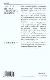 Traite De Physique A L'Usage Des Profanes - 4ème de couverture - Format classique