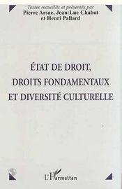 Etat de droit, droits fondamentaux et diversité culturelle - Intérieur - Format classique