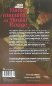 Danse Macabre Au Moulin Rouge - 4ème de couverture - Format classique