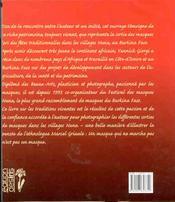 Masques Vivants - Patrimoine Nuna - 4ème de couverture - Format classique