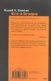 Bric a braque - 4ème de couverture - Format classique