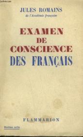 Examen De Conscience Des Francais. - Couverture - Format classique