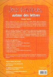 Jeux graphiques autour des lettres - 4ème de couverture - Format classique