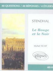 Stendhal ; le rouge et le noir - Intérieur - Format classique