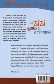 Le zizi, questions et réponses - 4ème de couverture - Format classique