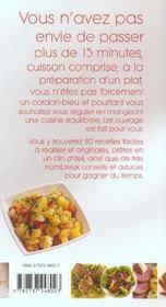 La cuisine express - 4ème de couverture - Format classique