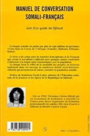 Manuel De Conversation Somali-Francais - 4ème de couverture - Format classique