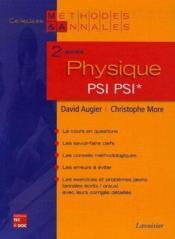 Physique ; 2e Annee Psi - Couverture - Format classique