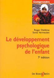 Le Developpement Psychologique De L'Enfant - Intérieur - Format classique