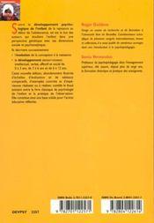 Le Developpement Psychologique De L'Enfant - 4ème de couverture - Format classique