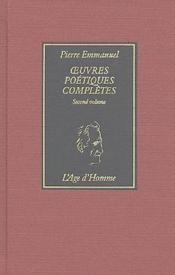 Oeuvres poétiques complètes t.2 - Couverture - Format classique