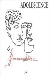 Revue Adolescence N.37/2 ; Homosexualité - Couverture - Format classique