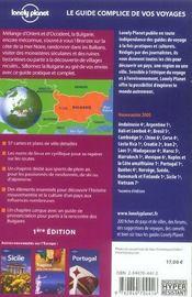Bulgarie - 4ème de couverture - Format classique