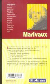 Marivaux - 4ème de couverture - Format classique