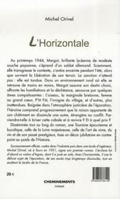 L'horizontale - 4ème de couverture - Format classique