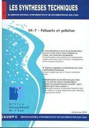 Polluants et pollution (les synthèses techniques du service national d'information sur d'eau) - Intérieur - Format classique