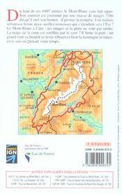 Tour du mont-blanc - 4ème de couverture - Format classique