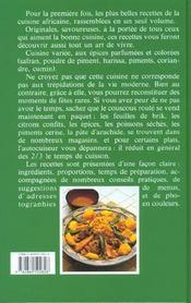 Les Merveilles De La Cuisine Africaine - 4ème de couverture - Format classique
