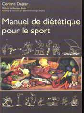 Manuel de diététique pour le sport - Intérieur - Format classique