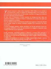 Alejo Carpentier Ecrire Decrire L'Amerique - 4ème de couverture - Format classique