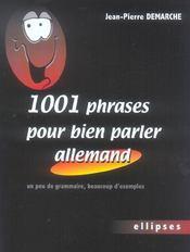 1001 Phrases Pour Bien Parler Allemand Un Peu De Grammaire Beaucoup D'Exemples - Intérieur - Format classique