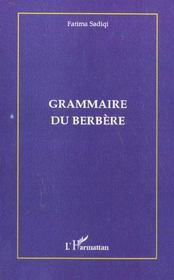 Grammaire Du Berbere - Intérieur - Format classique