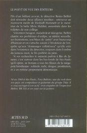 Bellini et le démon - 4ème de couverture - Format classique
