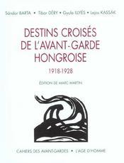 Destins Croises De L'Avant-Garde Hongroise, 1918-1928 - Intérieur - Format classique