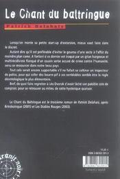Le Chant Du Baltringue - 4ème de couverture - Format classique