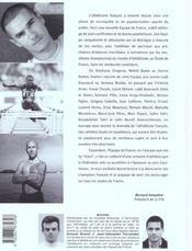Les stars francaises de l'athletisme - 4ème de couverture - Format classique