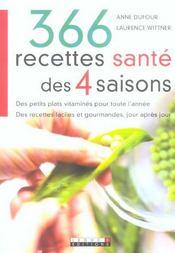 366 Recettes Sante Des 4 Saisons - Intérieur - Format classique