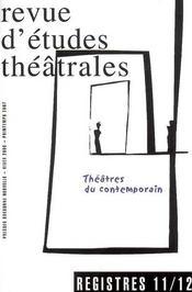 Théâtres du contemporain t.11 t.12 - Intérieur - Format classique