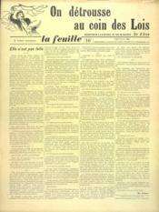 Feuille De Zo D'Axa (La) N°22 - Intérieur - Format classique
