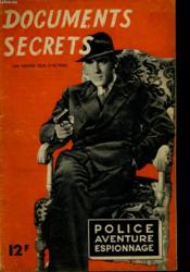 Police Aventure Espionnage - Documents Secrets - Couverture - Format classique