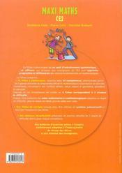 Maxi maths ; CE2 ; banque d'exercices progressifs - 4ème de couverture - Format classique